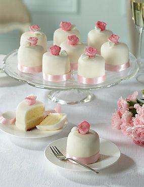 Something different to cupcakes Vintage Rose Wedding Mini Cakes x 10