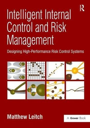 Many people in organizations resent internal control and risk management; these two processes representing unwelcome tasks to be completed for the benefit of auditors and regulators. Over the last few years this perception has been heightened by the disastrous implementation of section 404 of... more details available at https://insurance-books.bestselleroutlets.com/risk-management/product-review-for-intelligent-internal-control-and-risk-management-designing-high-performance-