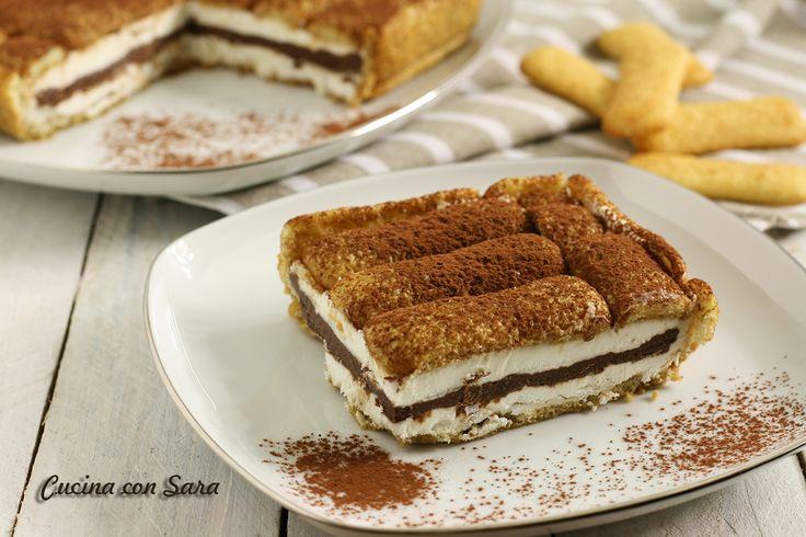 Torta fredda pavesini, panna e nutella: un dolce goloso, semplicissimo e velocissimo da realizzare. Non richiede cottura.