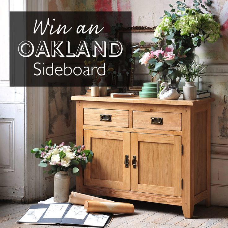Win our charming Oakland Sideboard for your home. Competition closes midnight 31st August. Click the image below to go to the entry page - Good luck