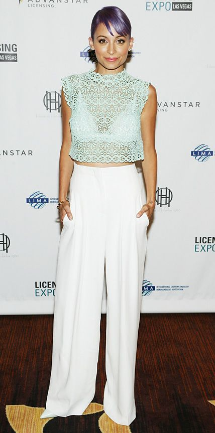 Look of the Day - June 18, 2014 - Nicole Richie in Alberta Ferretti from #InStyle