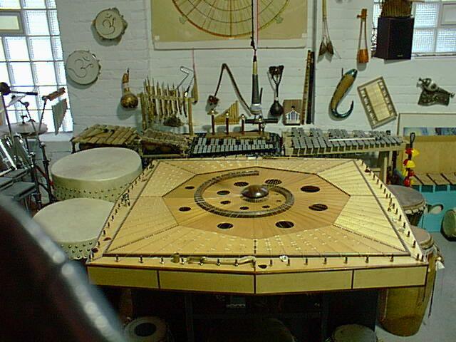 Celestial Harp at the Sterling Street studio.