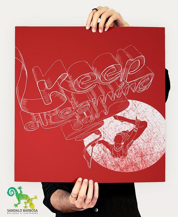 """Sândalo Barbosa  & Nara - """"Keep Creaming On"""": Photos, Flickr, Keep Dreaming, Writing Typography Lettering, Art, Poster, Type, Design"""