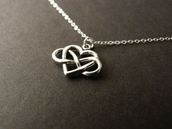 Oooh pretty!   Infinity Love Infinity Heart Necklace Infinite Love by NKDNA