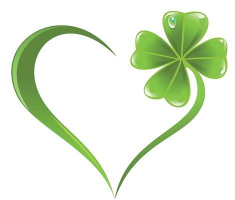 Clover heart emoticon ☘ Saint Patrick's Day ☘