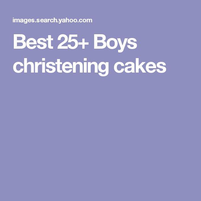 Best 25+ Boys christening cakes