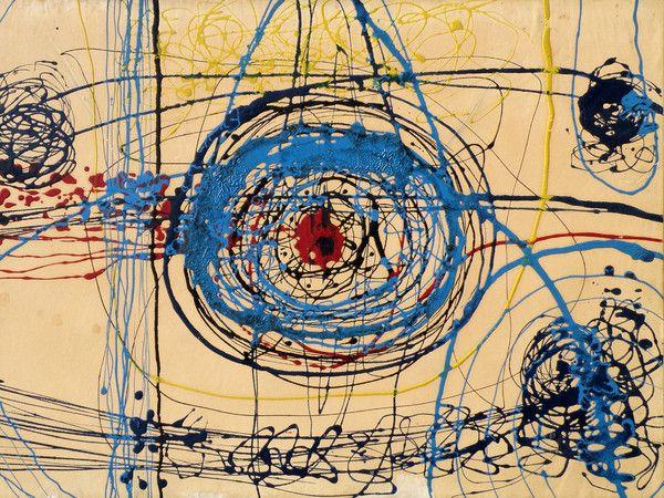 Tancredi Parmeggiani, Senza titolo, 1950-1951, Tecnica mista su carta intelata, 68.5 x 49 cm, Collezione privata, Belluno
