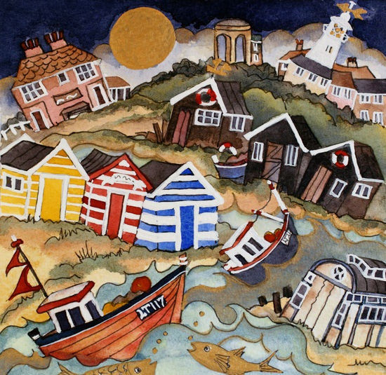 At night the fishes dance,Southwold  Mandy Walden