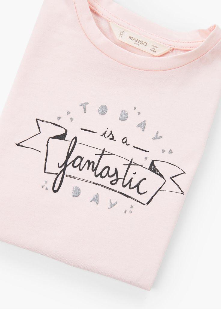 T-shirt algodão mensagem -  Criança | MANGO Kids Portugal