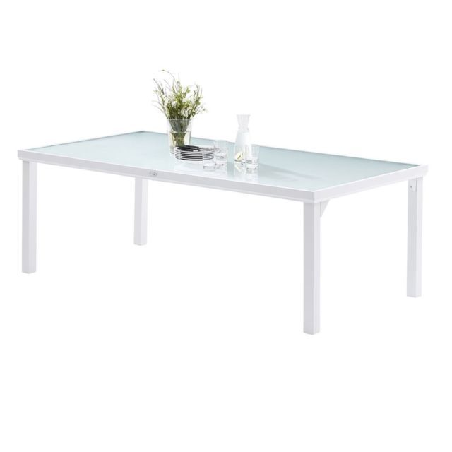 Wilsa Table WhiteSun Verre Blanc T8 Tables & Ensembles ...