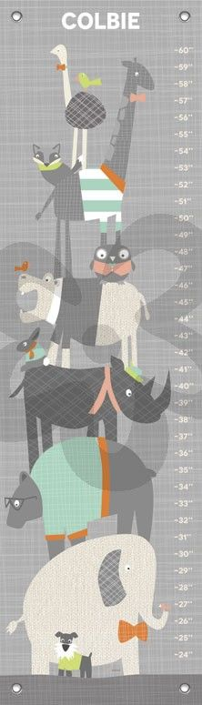 Happy Animal Herd - Multi, Animals Growth Charts | Oopsy daisy