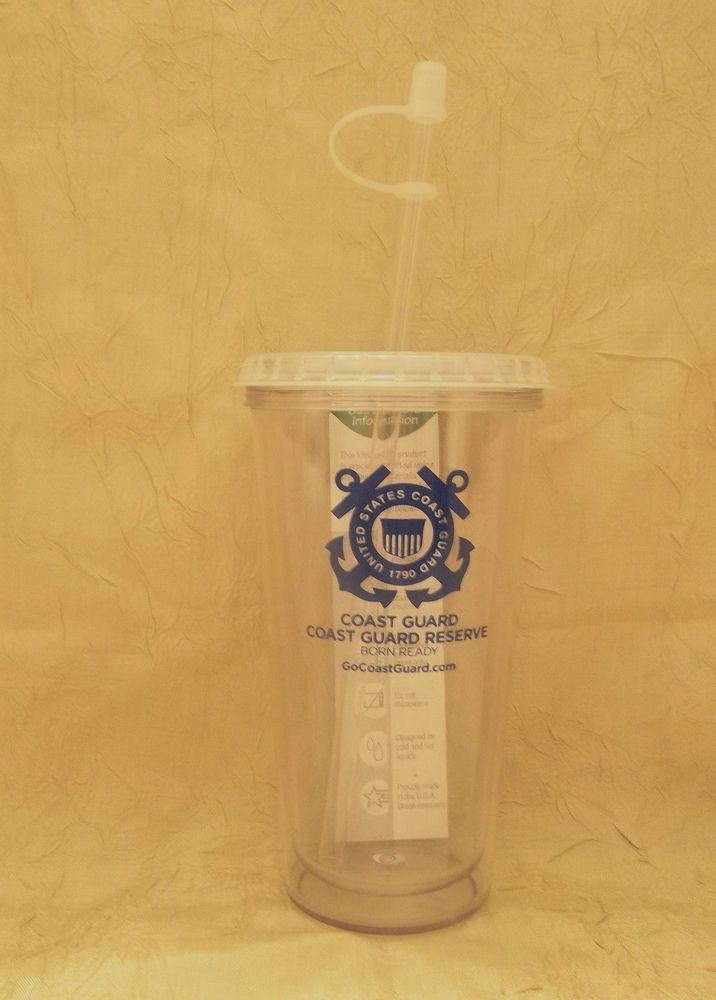 United States Coast Guard Reserve Hard Plastic Travel Cup GoCoastGuard.com USCG