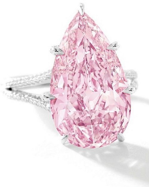 This is the most expensive diamond ever sold at auction: the 8.41 carat gem sold for $17.8 million