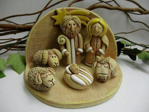 Keramický betlém vánoce láska víra pokora keramický betlém