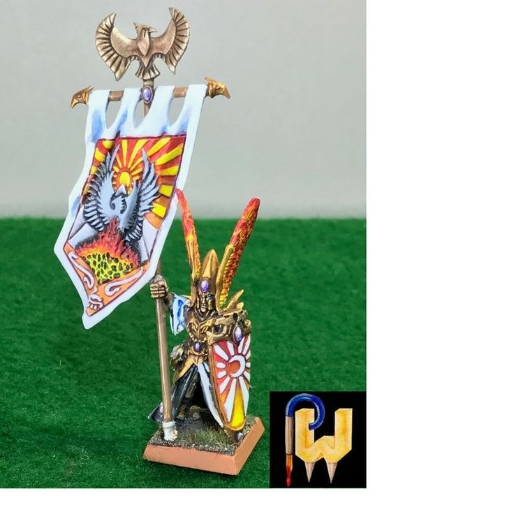 Warhammer Army High Elf AOS Eldritch Council Battle Standard Painted