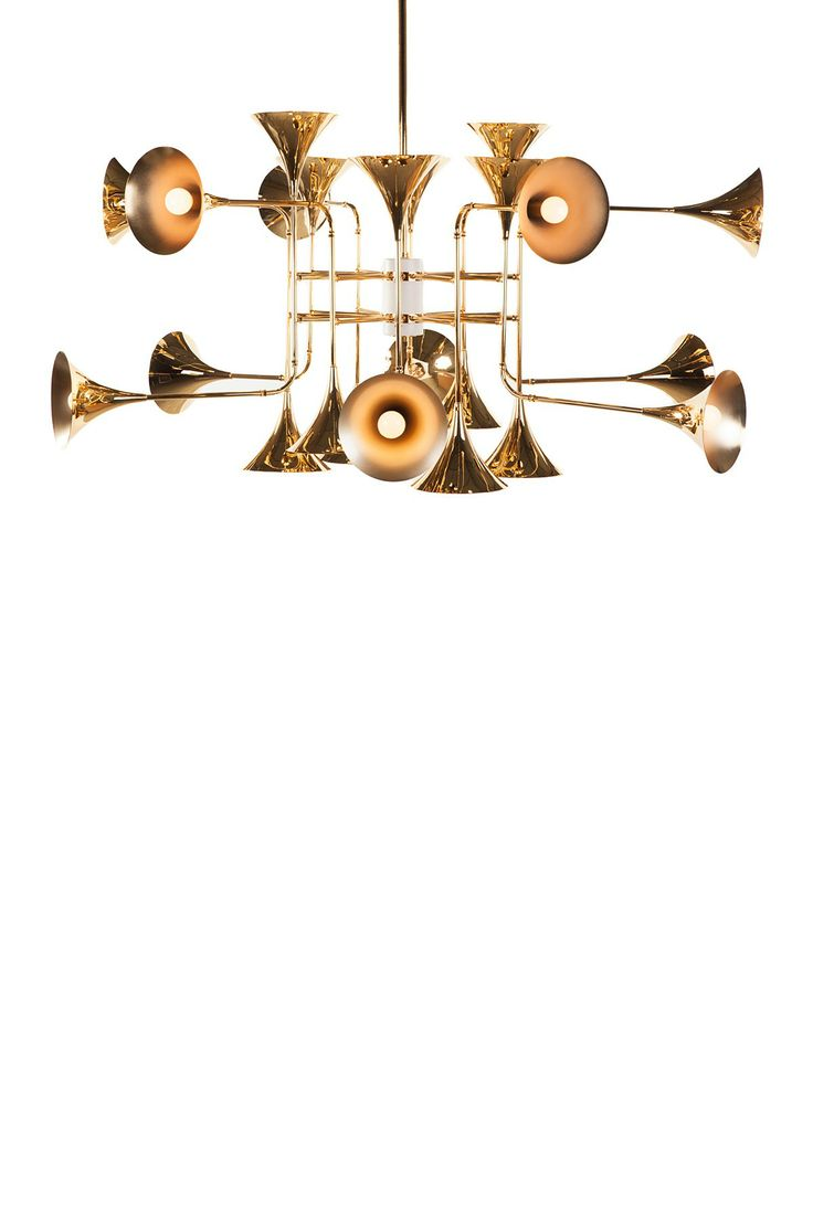 529 best lighting images on pinterest chandeliers pendant lamps the trumpet gold chandelier lamp arubaitofo Images