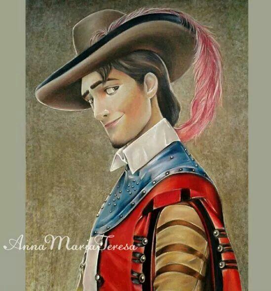 Flynn Rider as a Musketeer
