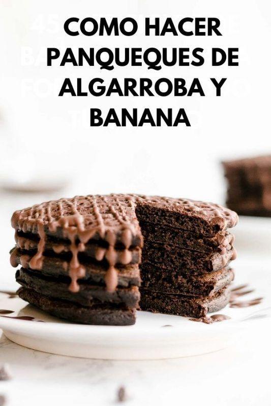 Como hacer panqueques de algarroba y banana | Receta saludable Healthy Desserts, Ideas Para, Salsa, Sweets, Pepperoni, Gluten, Food, Anime, Healthy Protein Breakfast