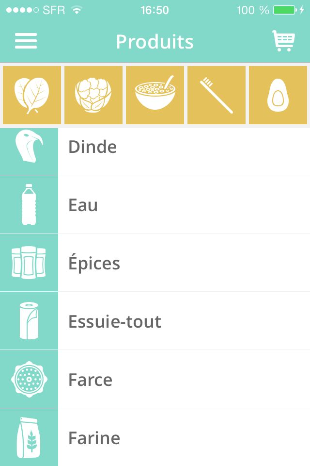 Shopit #iPhone Grocery Shopping List without taping