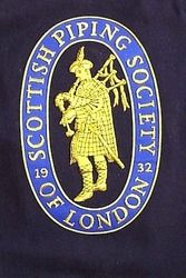 Hand Embroidered Civilian Association Bagpipe Banners