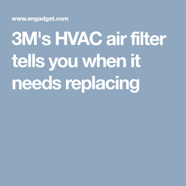 3M's HVAC air filter tells you when it needs replacing