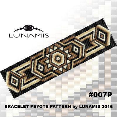 Bracelet pattern, peyote pattern, stitch pattern, pdf file, pdf pattern, #007P