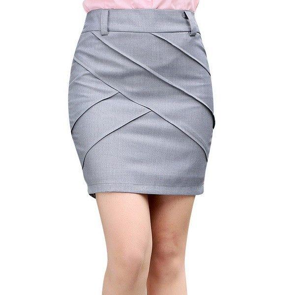 Платье линии дизайн леди мода офис юбка размер S 2XL 2016 новый летний корейский стиль сплошной цвет карьера женщины мини короткие юбки купить на AliExpress