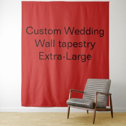 Custom Wedding Extra-Large Wall Tapestry Red Tapestry - #customizable create your own personalize diy