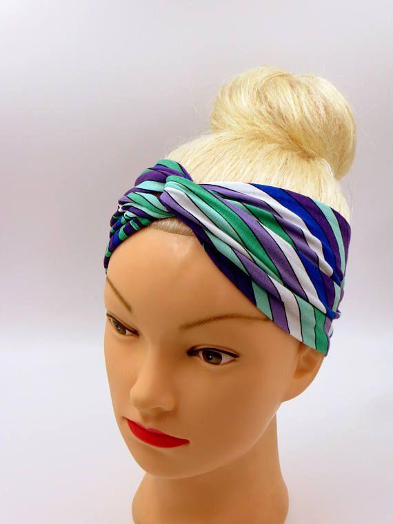 Color Vibes Fascia per capelli turbante colori arcobaleno