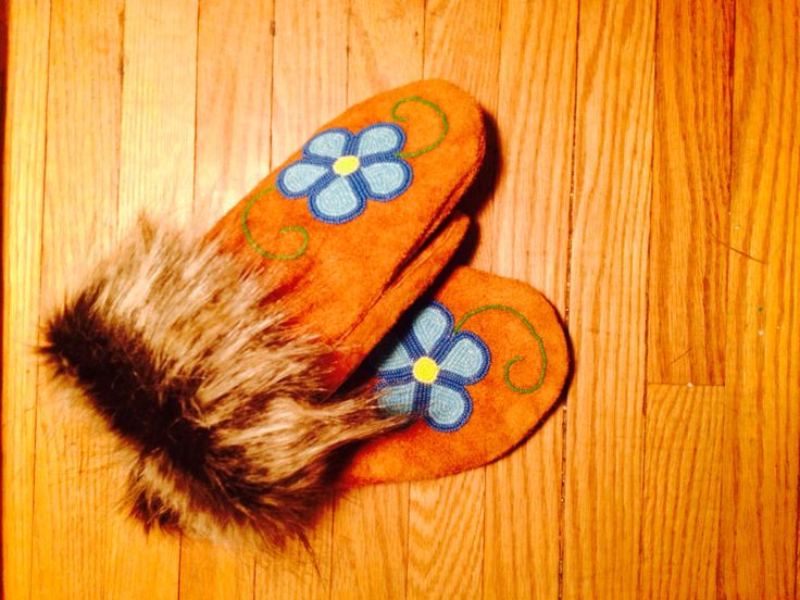 Forget me not mitts