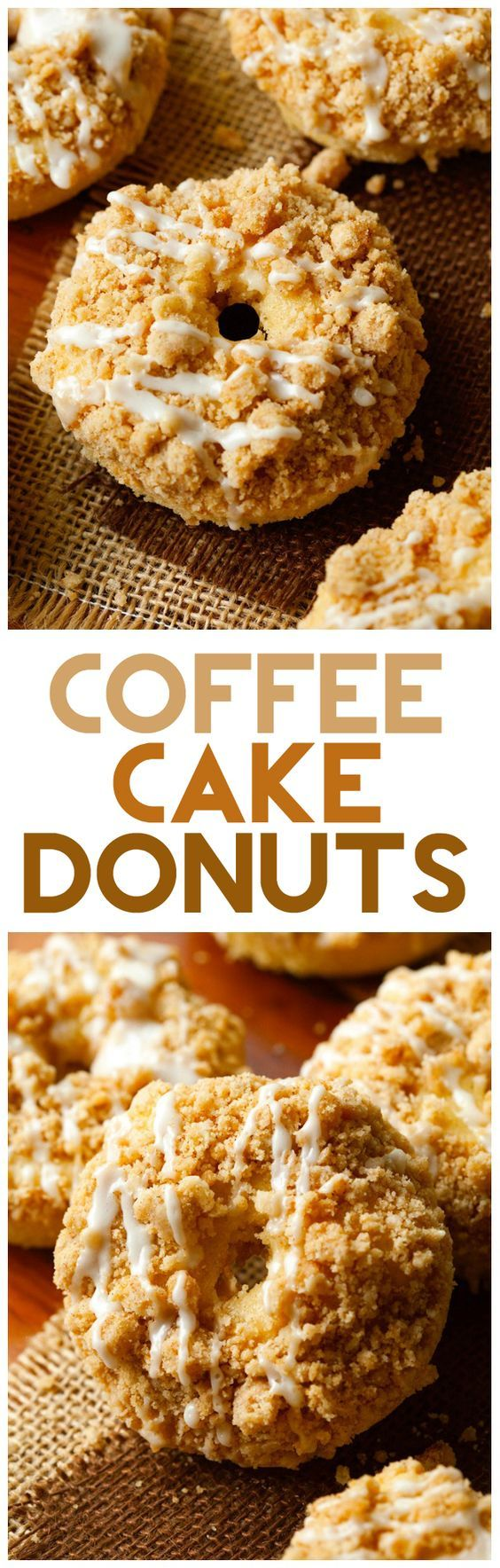 Coffee Cake Donuts - A delicious crumb topping and glaze top this delicious donut... what's not to love? | Chef in Training