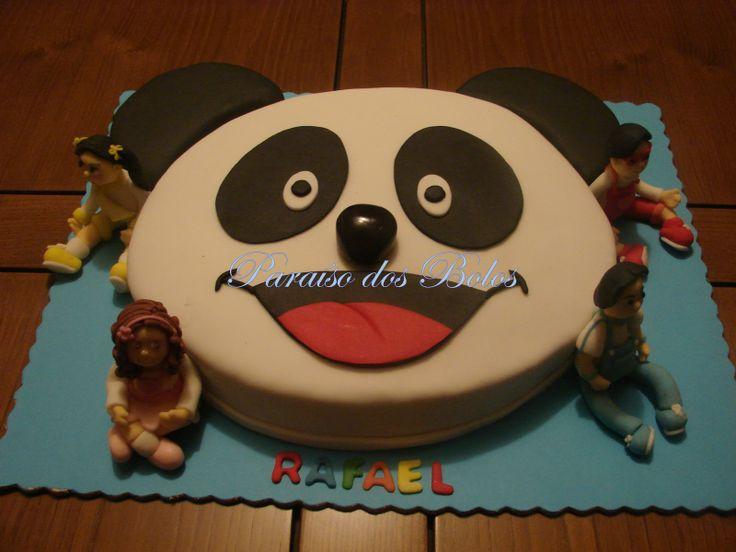 bolo panda e e os caricas Bolos decorados do Panda