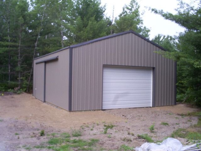 24 X 32 X 10 Diy Pole Barn Diy Pole Barn Pole Barn Garage
