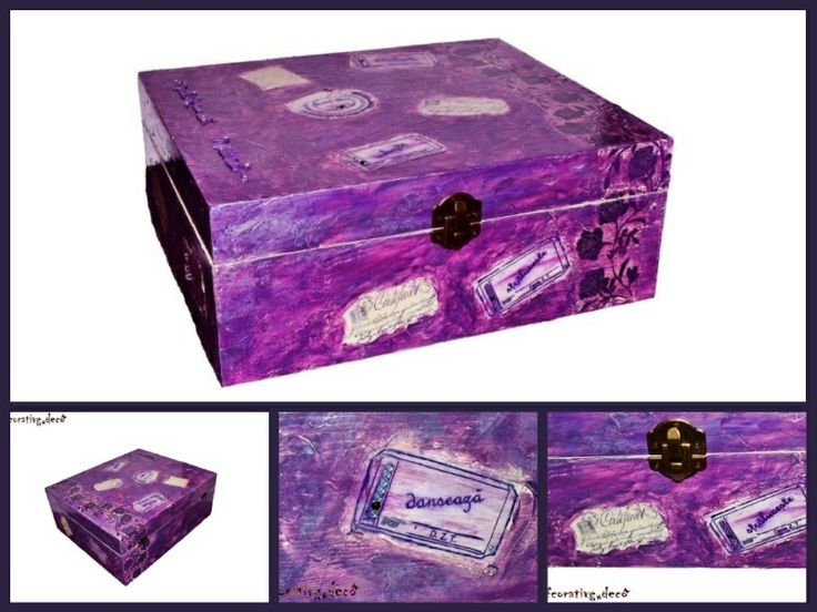 Wooden box for keeping baby's memories