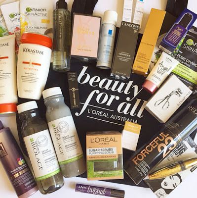 Fabulous and Fun Life: L'Oreal Australia Beauty For All Goodie Bag containing L'Oreal Paris, NYX Cosmetics, Kerastase, Giorgio Armani, YSL, Garnier, Kiehl's, Maybelline and many more brands of beauty products. Click on this pin to find out more!