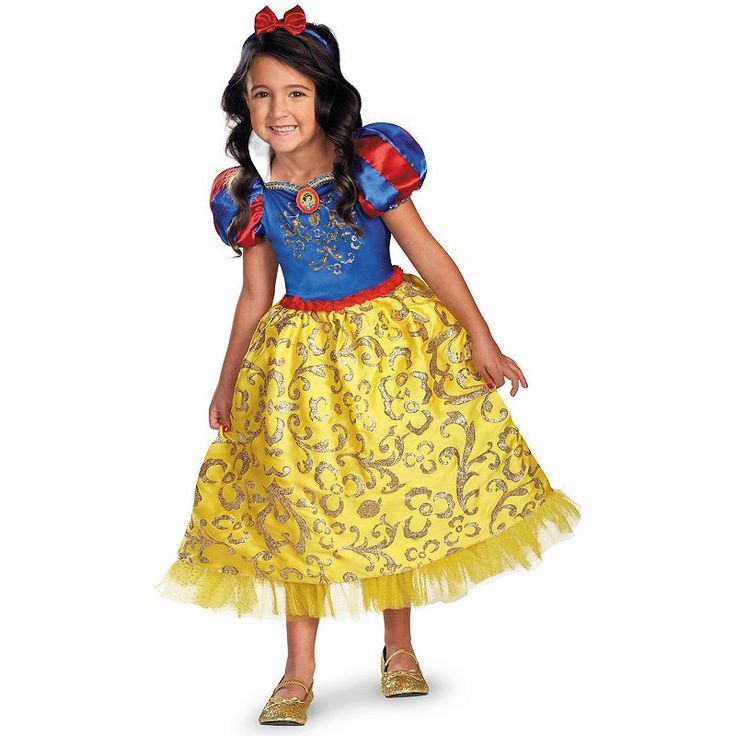 disney princess snow white deluxe sparkle costume toddlerkids girlu0027s size