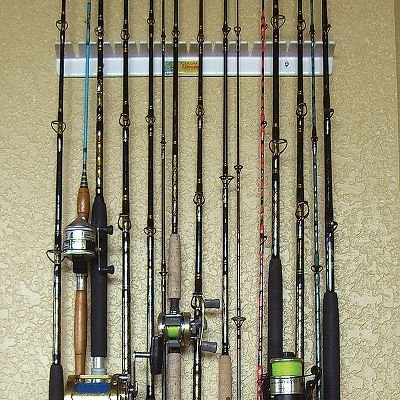 7 best fiskestenger stativ images on pinterest fishing for Wall fishing rod holder