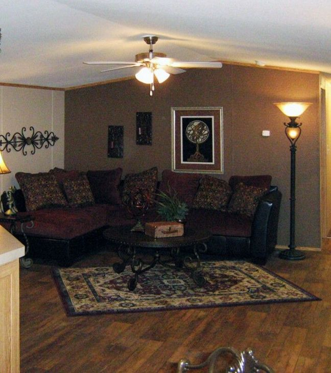 27 Mobile Home Living Room Ideas Single Wide 81 Decorinspira Com Mobile Home Living Mobile Home Renovations Remodeling Mobile Homes