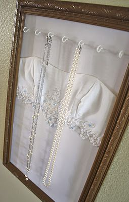 """Beautiful way to put your wedding dress to further use--wish I had done this, however it would  be great for Christening gowns, and personally, I think I'll do somethign withmy daughter's """"adoption day"""" dress"""
