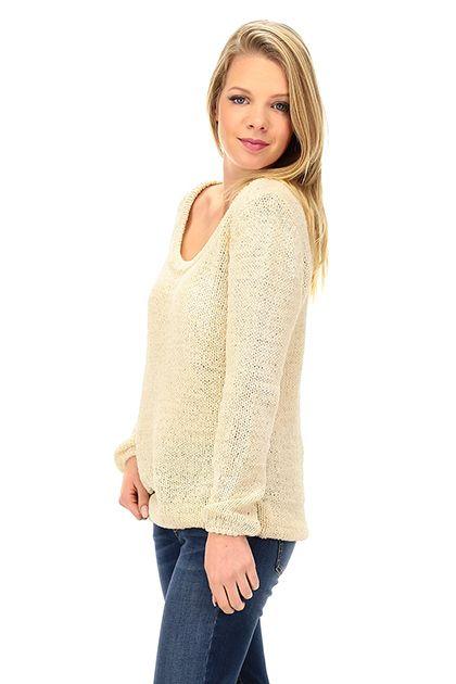 American Vintage - Maglie - Abbigliamento - Maglia in cotone lavorato a punto largo con scollo ampio. - DRAGEE - € 160.00