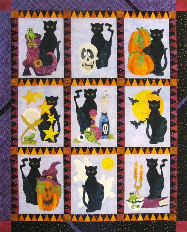 halloween quilt block patterns