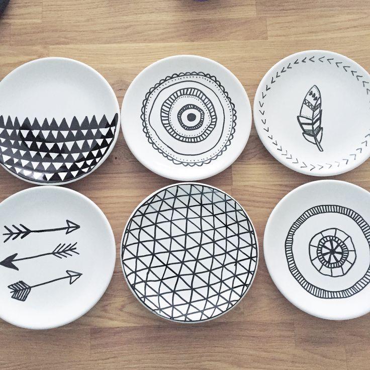 DIY Porcelain Plates