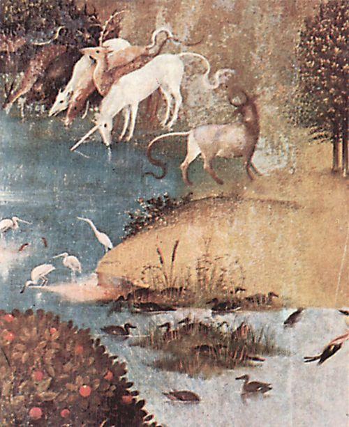 Bosch, Hieronymus: Der Garten der Lüste, linker Flügel: Die Schöpfung, Detail