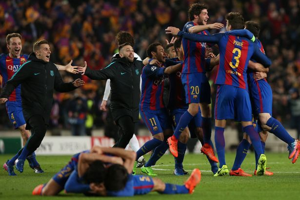 BARCELONA THRASH PSG 6-1 TO COMPLETE GREATEST COMEBACK IN FOOTBALL HISTORY