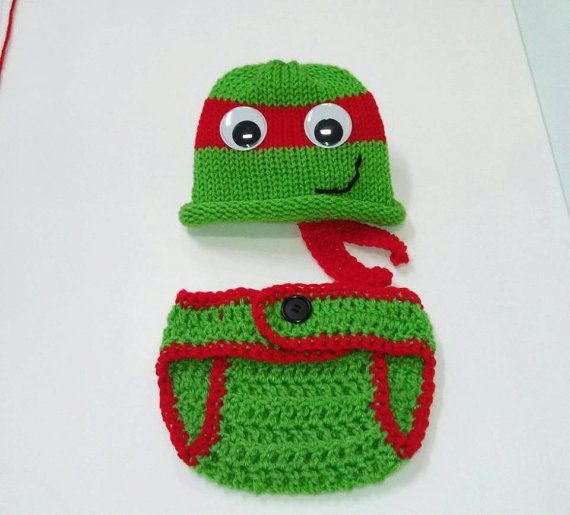 Baby Crochet Ninja Turtle OutFit Newborn turtle by HatCharacters, $16.99