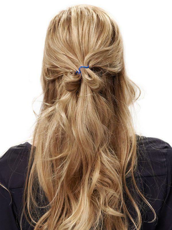 Halboffene Frisur im Sixties Look zum Nachmachen