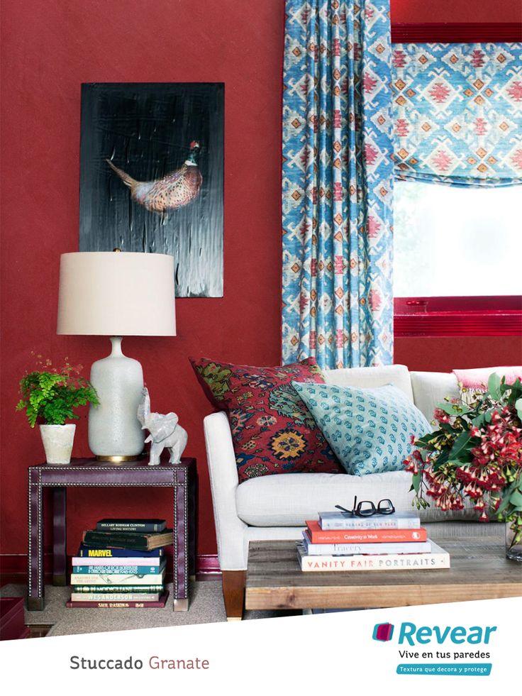17 mejores ideas sobre paredes de color granate en - Pared color granate ...