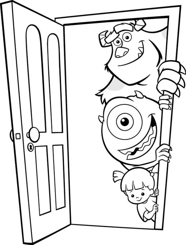 It's just a graphic of Obsessed Monsters Inc Door Printables