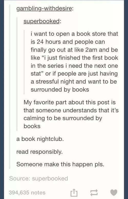 Jenni - And in said book nightclub there needs to be pillows and dimmish lights so its like a book reading sleepover