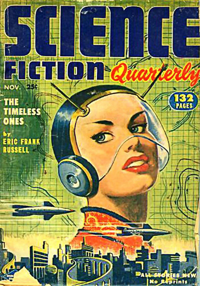 vintage science fiction book cover